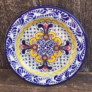 VTG Talavera Plate, Hand Painted Mexican Folk Art